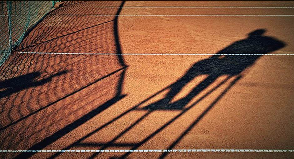 senka, tenis, senka na terenu, šljaka