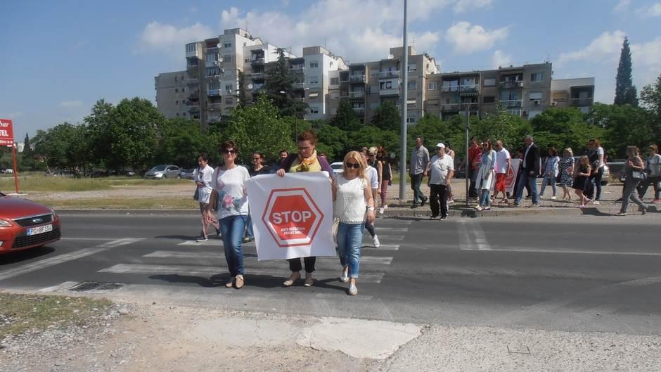 Zabjelo protest pasarela