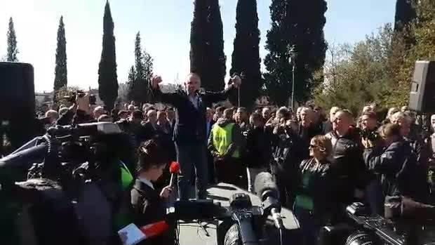 protest DF Branko Radulović Banjo Radulovic
