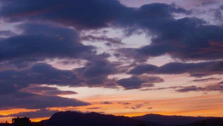 nebo oblak oblaci vjetar sumrak svitanje