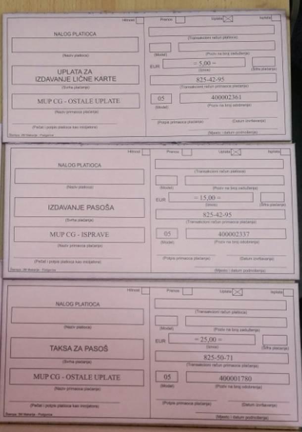 Kako do crnogorske lične karte i pasoša