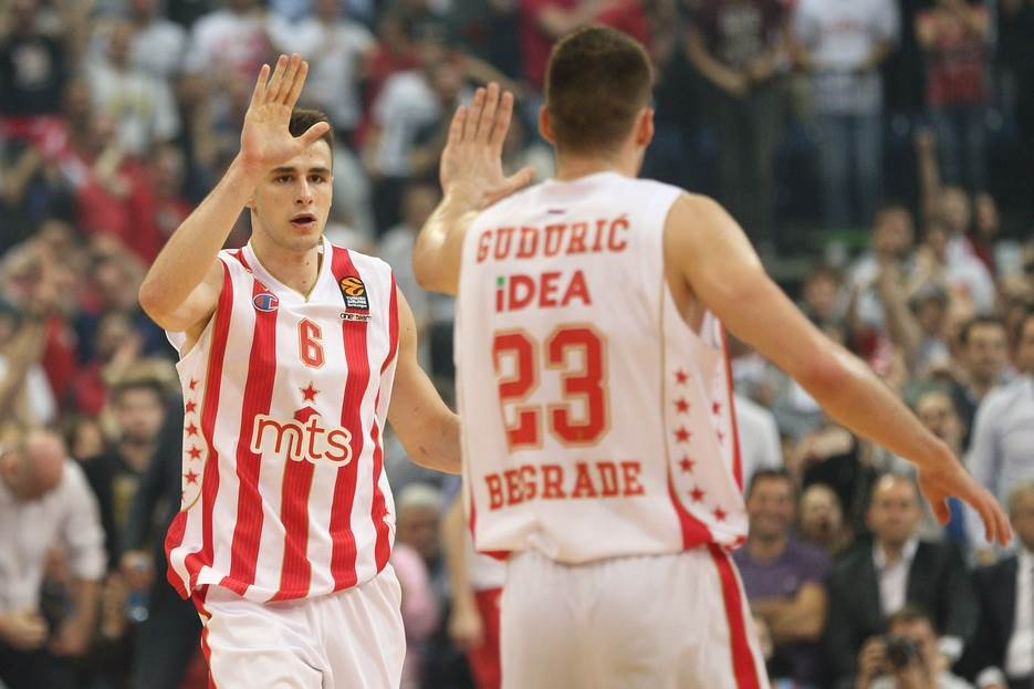 Nemanja Dangubić i Marko Gudurić Crvena zvezda Evroliga, Nemanja Dangubic, Marko Guduric