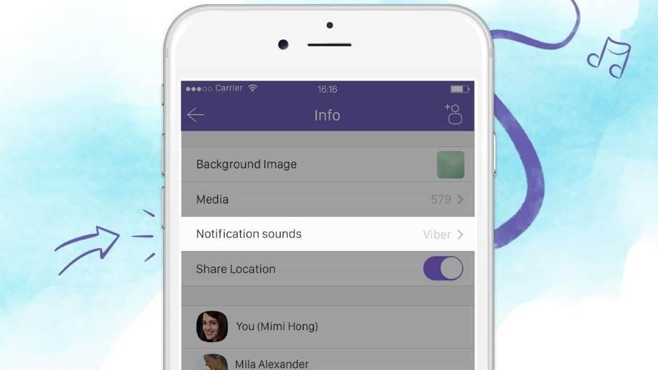 Viber: Izmijenite melodiju zvona za svaki kontakt
