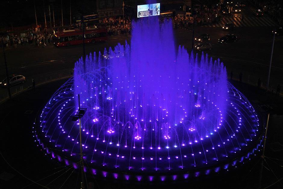 fontana. slavija, muzička fontana, skver