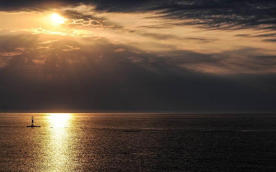 zalazak sunca, jutro, sunce, grčka, letovanje, putovanja, leto, odmor, plaža, more
