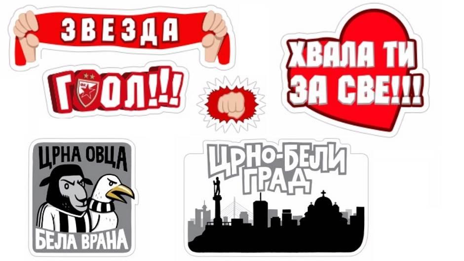 Crvena Zvezda i Partizan Viber stikeri