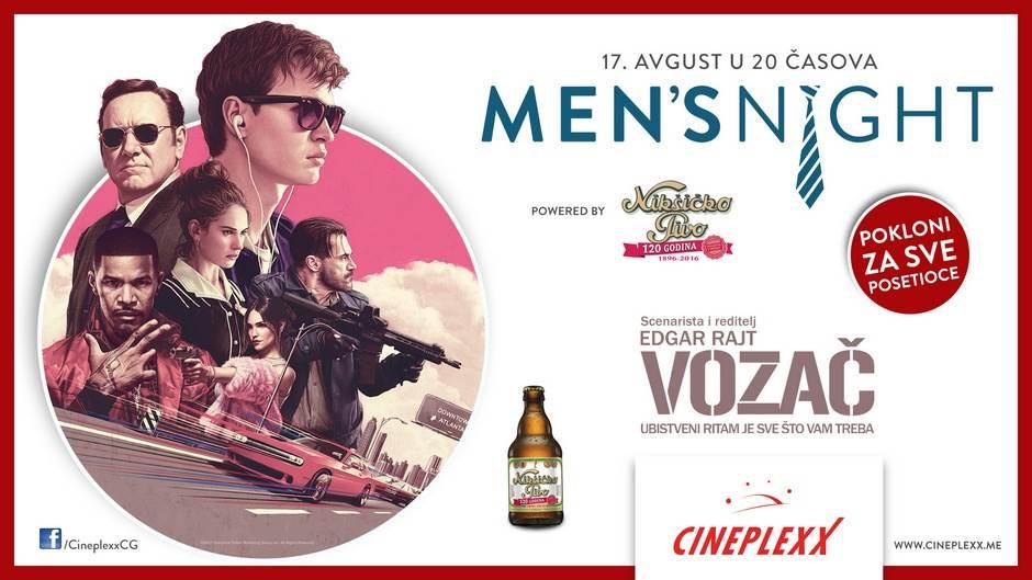 """Men's Night uz film """"Vozač"""" u Cinepelxxu"""