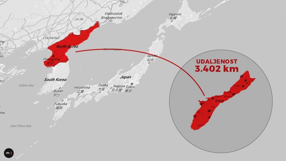 Severna Koreja, SAD, Guam amerika nuklearni rat japan kim džong un
