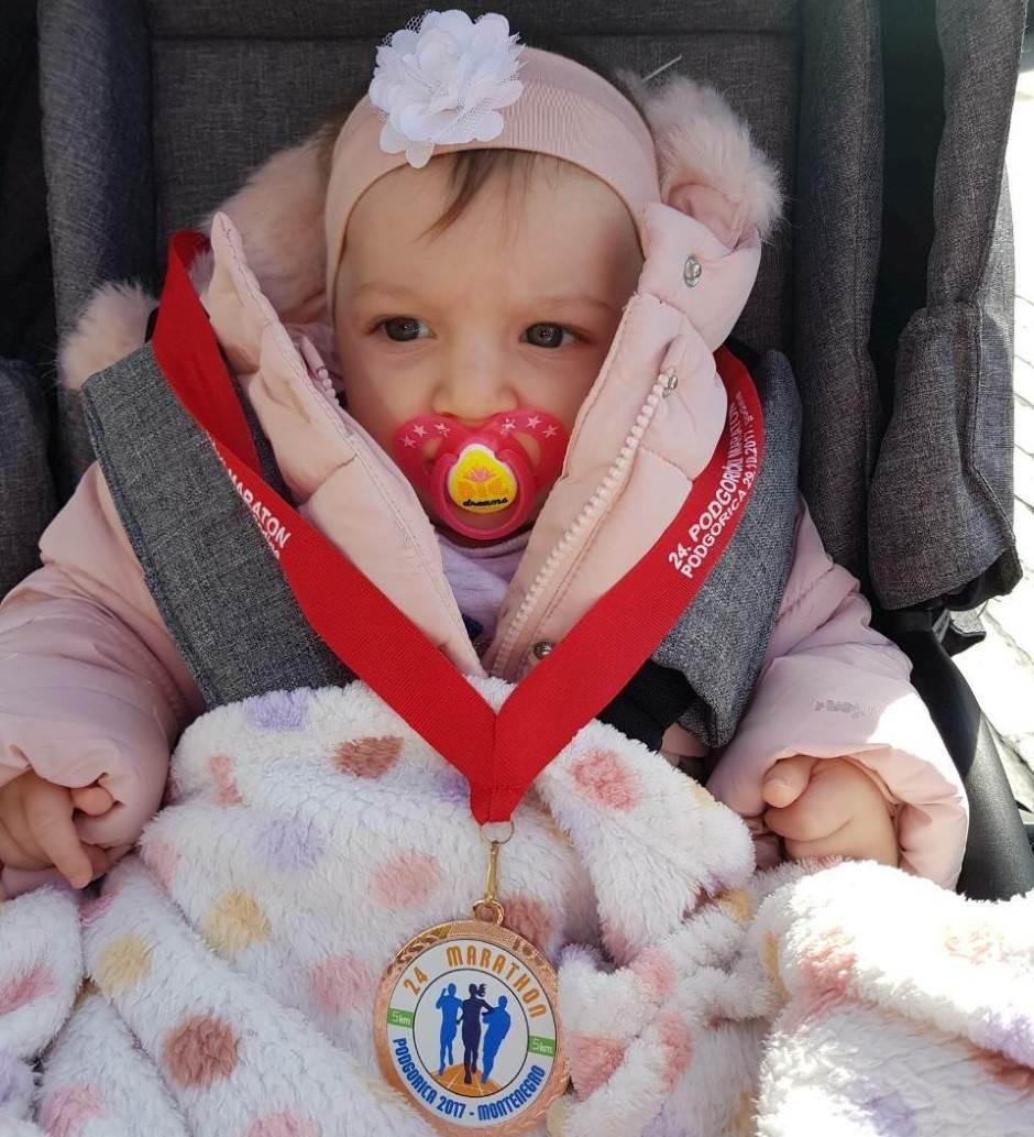 Ovo je najmlađa učesnica Podgoričkog maratona!