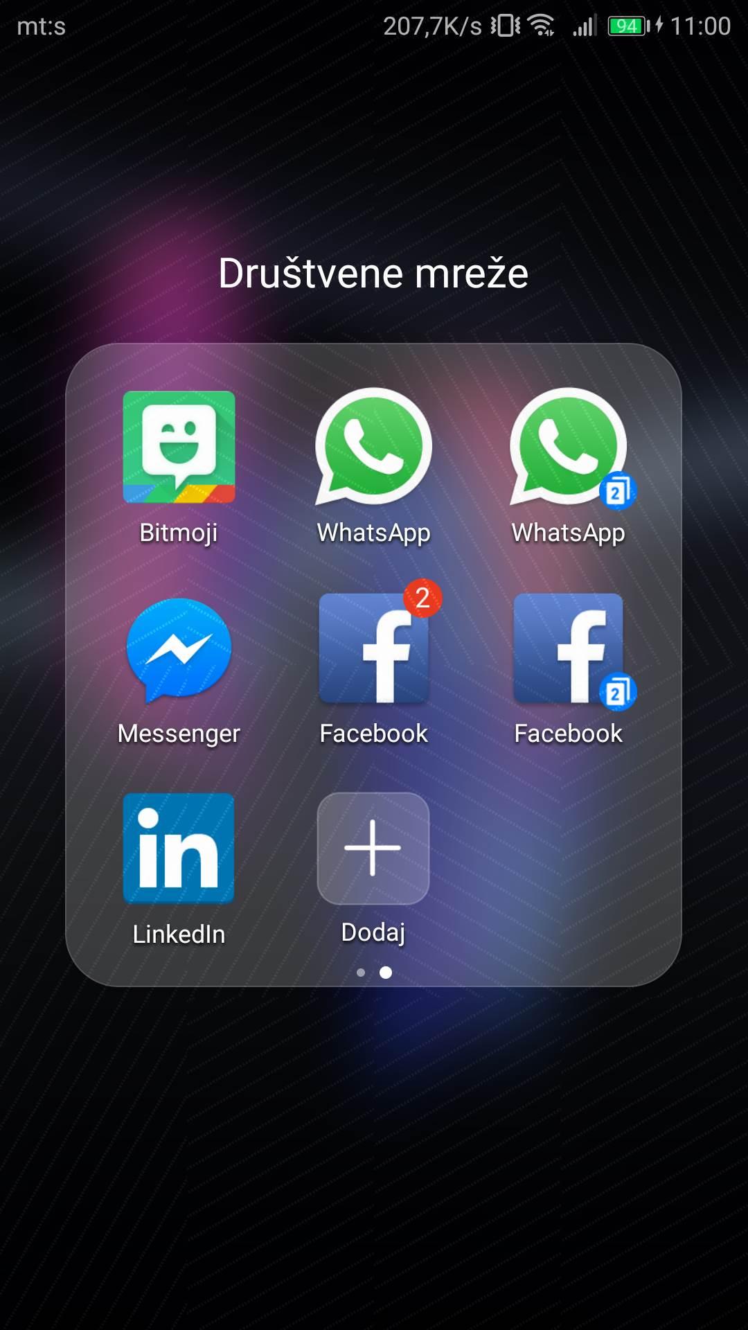 Dva profila WhatsApp, Facebook… na ISTOM telefonu