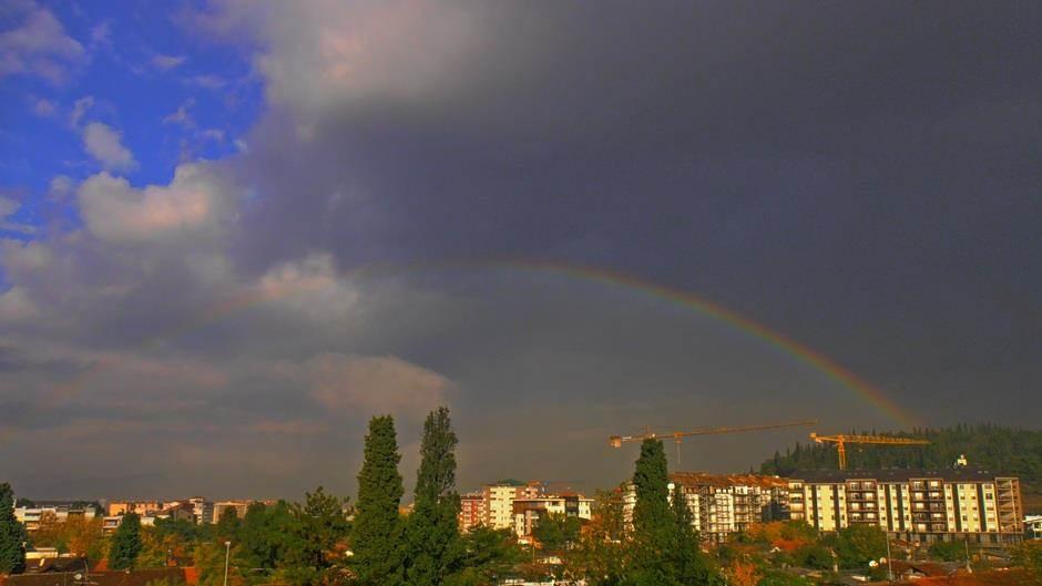 duga Podgorica kiša kisa vrijeme šetnja oblaci