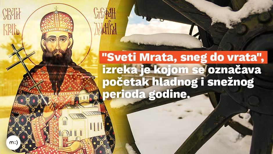 Sveti Mrata, ko je grešan danas neka pazi!