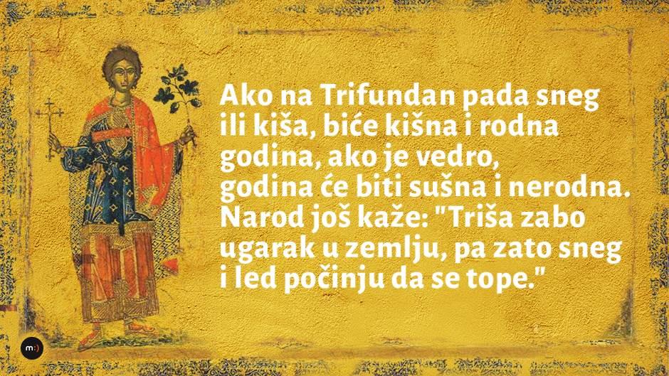 Sveti Trifun: Ako danas bude lijepo vrijeme...