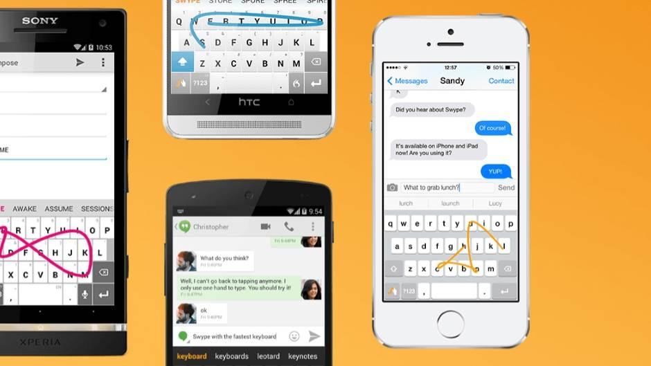 Swipe, Tastatura, Aplikacije