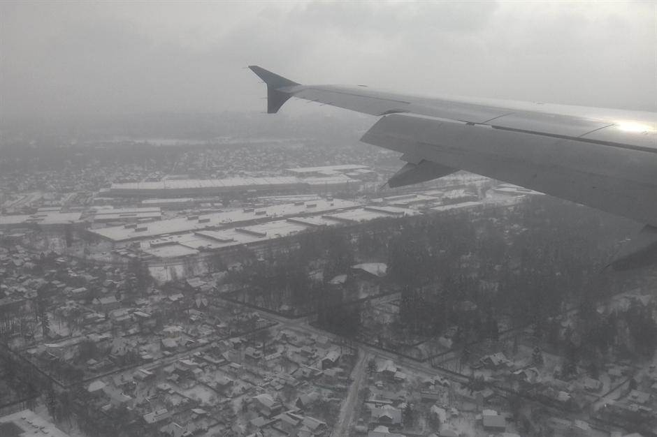 avion Moskva sneg zima