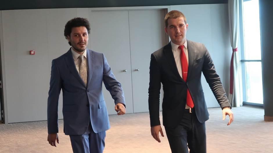 Dritan Abazović i Aleksa Bečić
