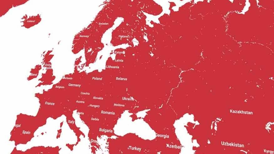 mapa, mape, evropa, eu