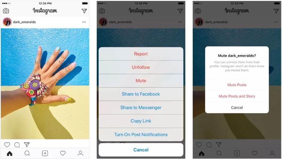 Instagram Mute kako se koristi