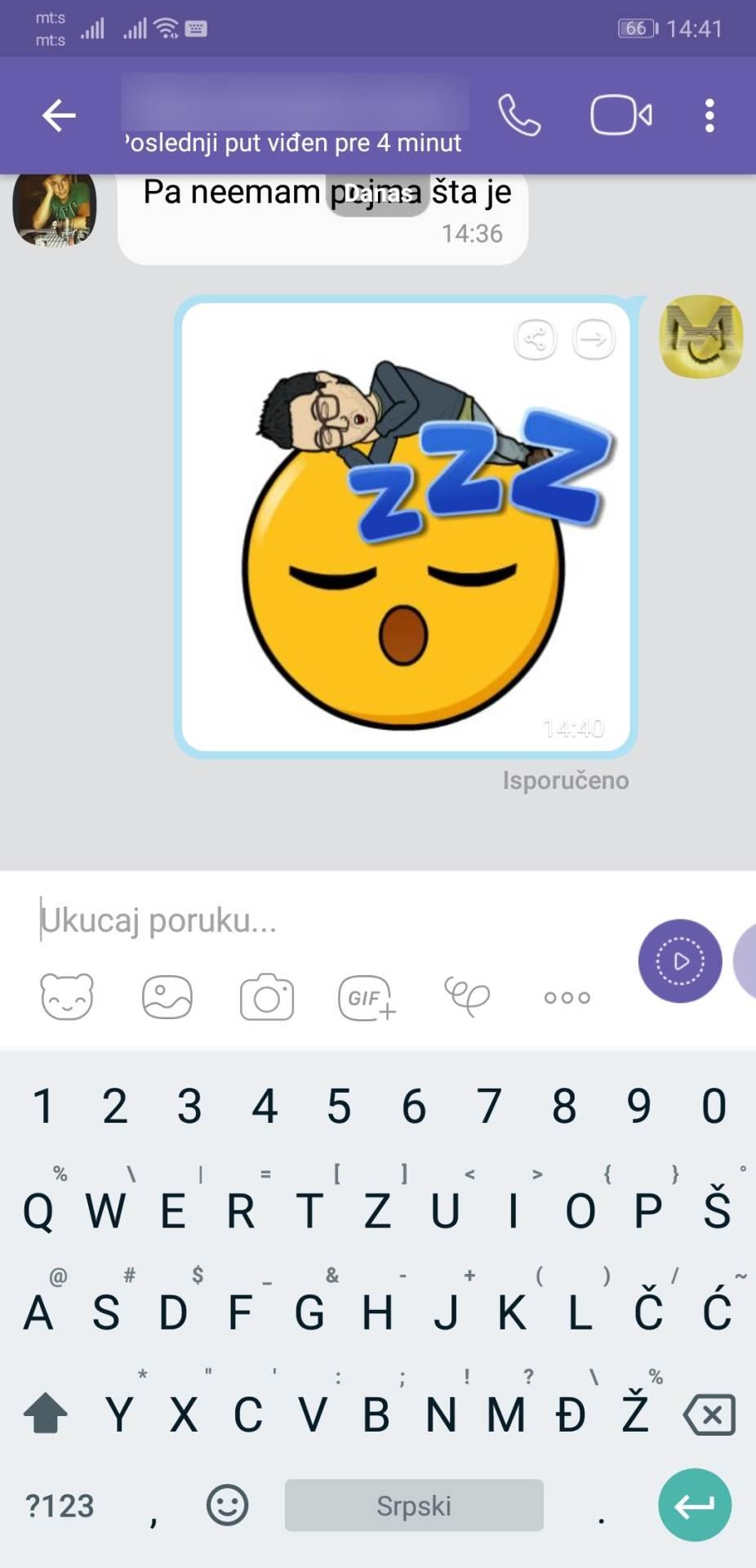 Viber aktivirao stikere sa vašim likom