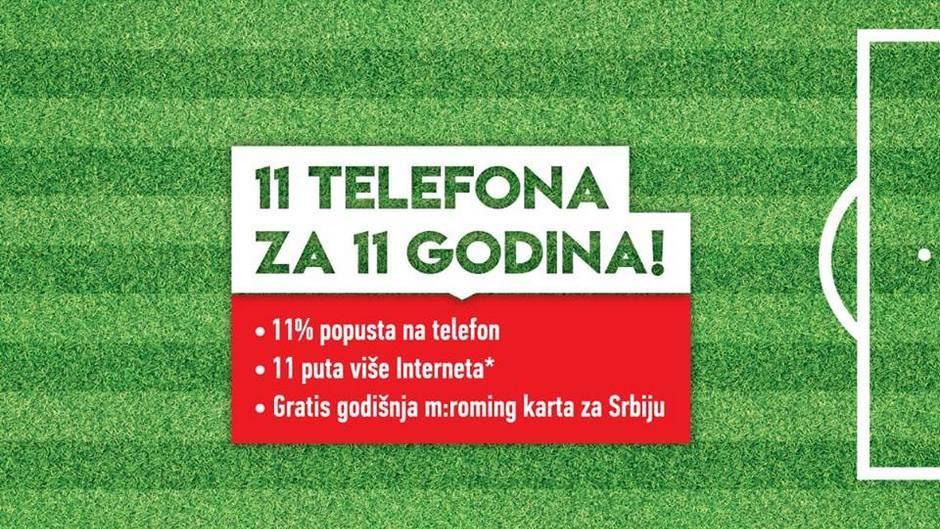 11 TELEFONA ZA 11 GODINA