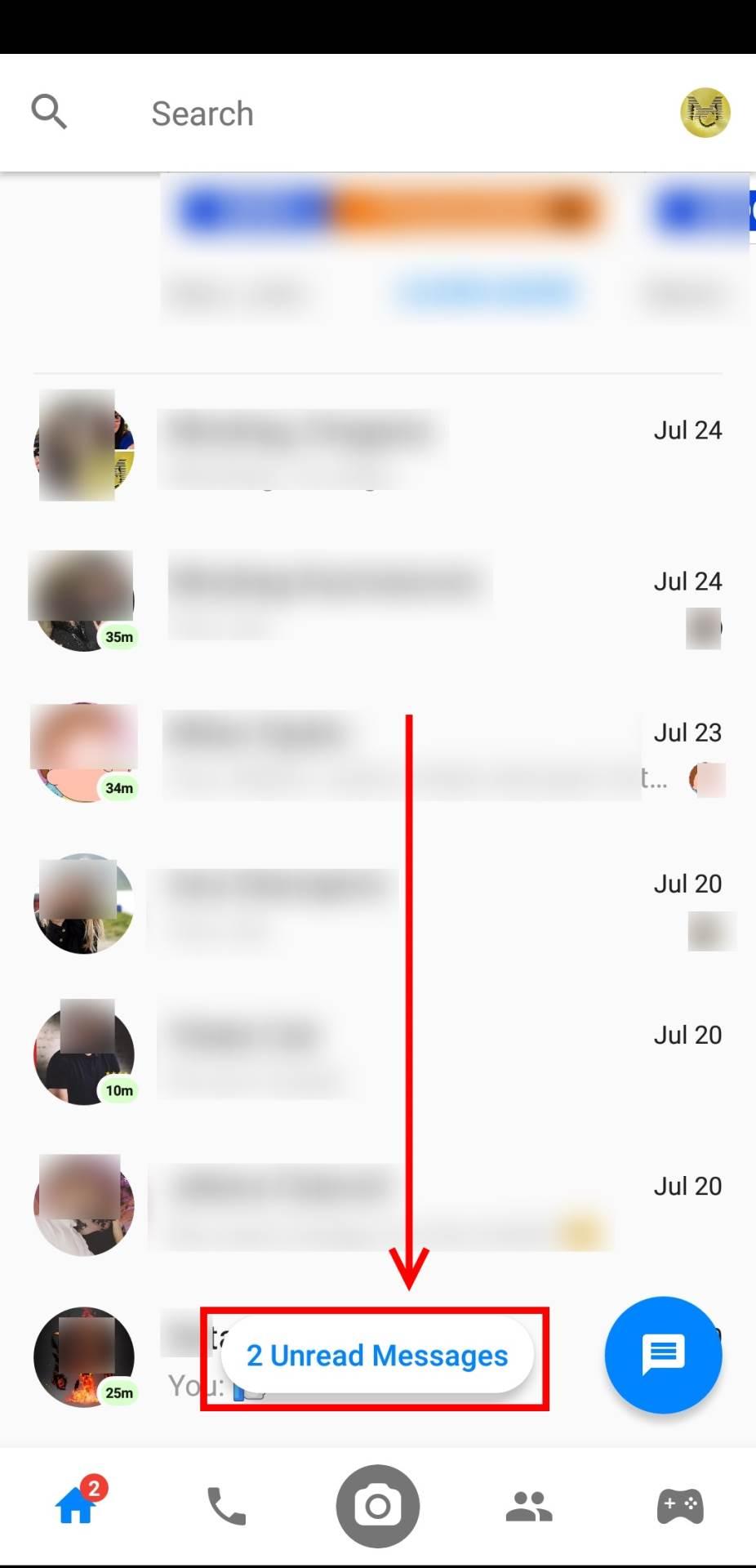 Skrila se nepročitana Messenger poruka? Rešenje!