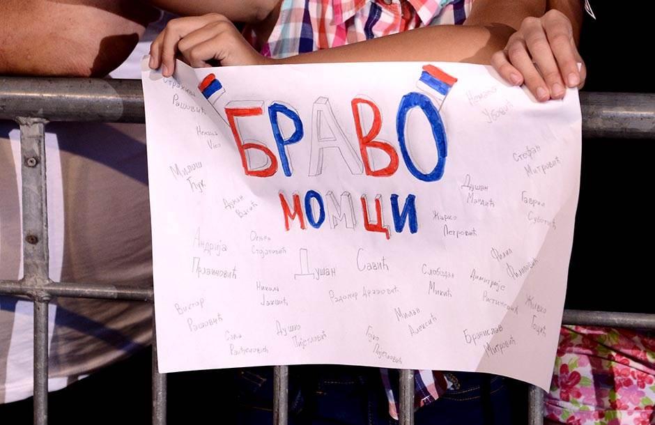 Srbija dočekala zlatne vaterpoliste (FOTO)