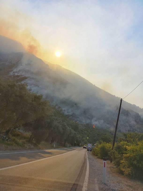 Zaustavljen požar na Paštrovačkoj gori