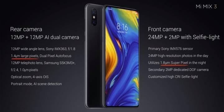 Ubica skupih telefona Mi Mix 3: 10 GB RAM, 5G, 4 kamere