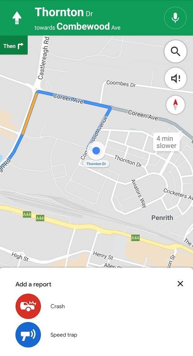 Google Maps: Prijava policijske patrole, radara, sudara