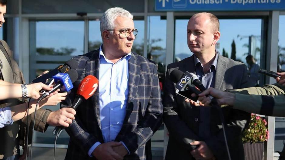 Mandić i Knežević vraćeni sa aerodroma