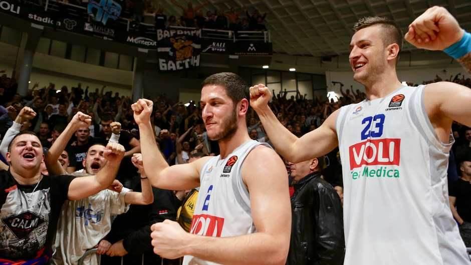 Budućnost CSKA slavlje igrača
