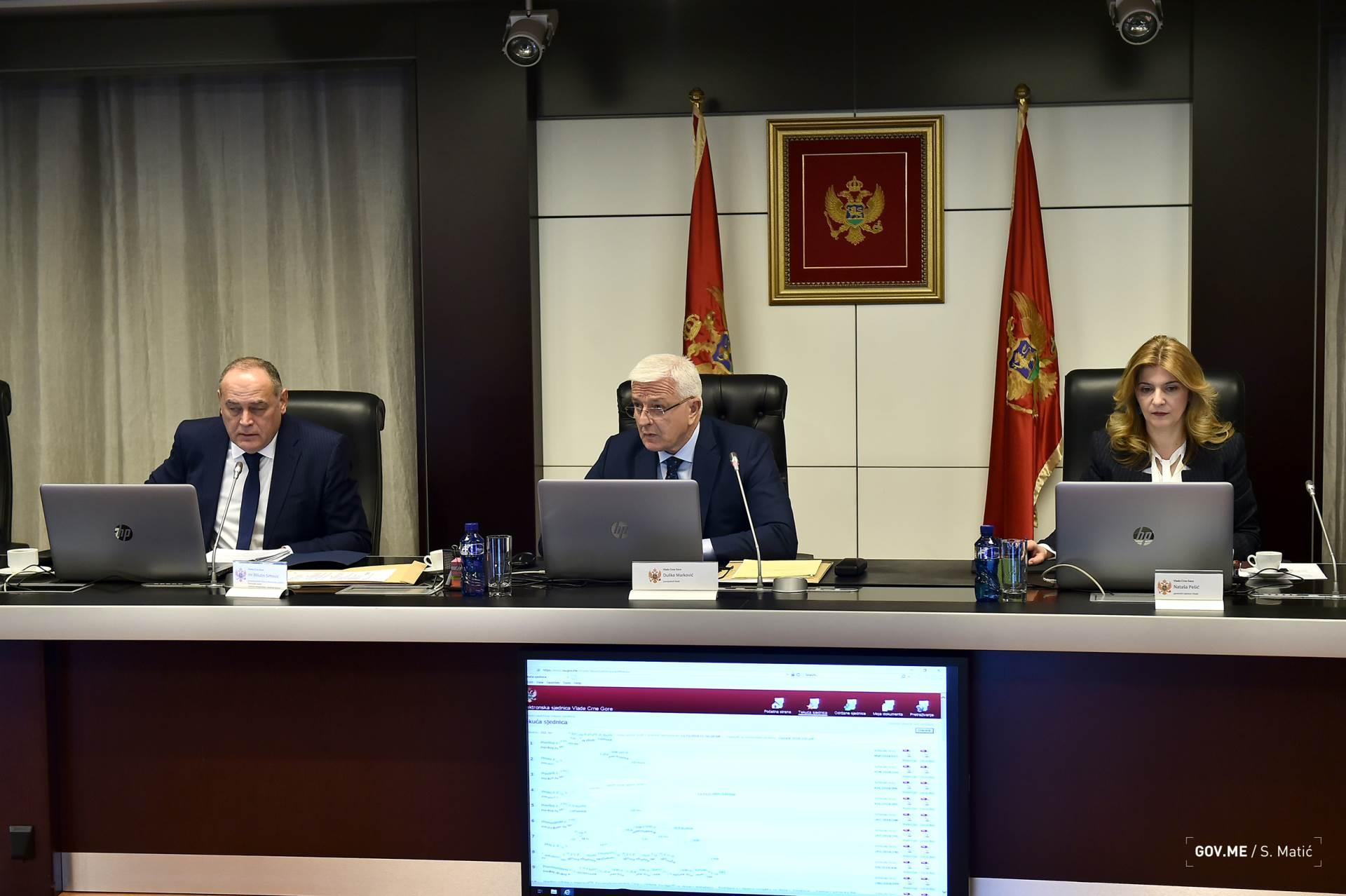 102. sjednica Vlade crne Gore