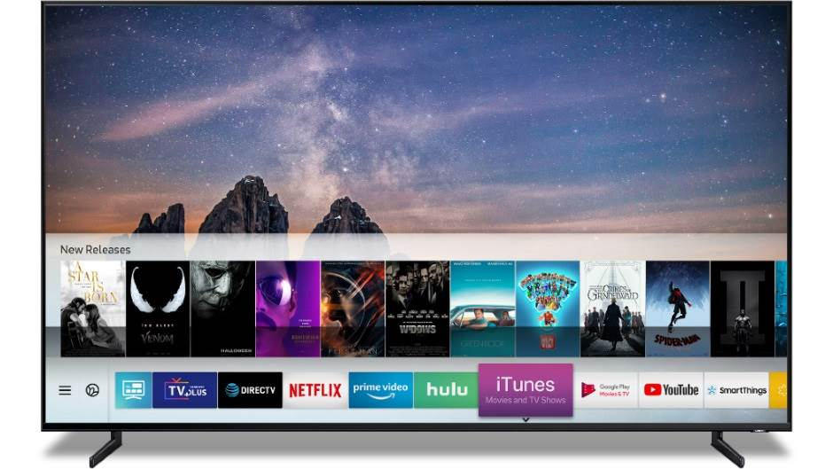 Samsung Apple TV QLED CES 2019 Las Vegas