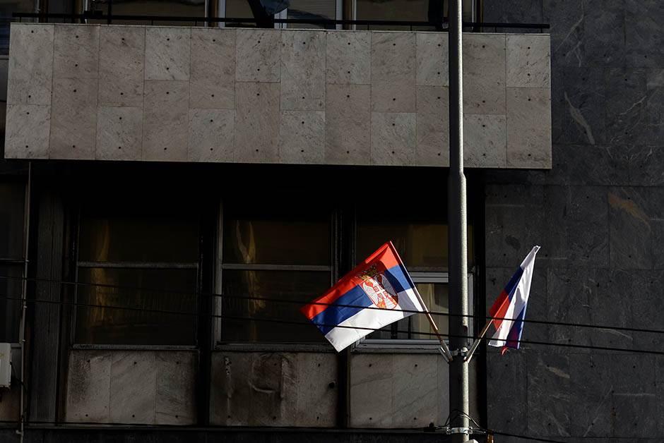 Lickaju Beograd: Vijore se ruske zastave (FOTO, VIDEO)
