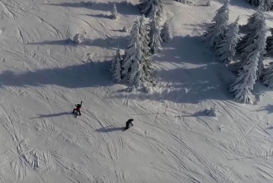 kopaonik zima sneg staza skijanje bord planina