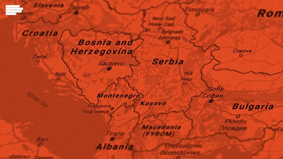 balkan  mapa bih, kosovo crna gora