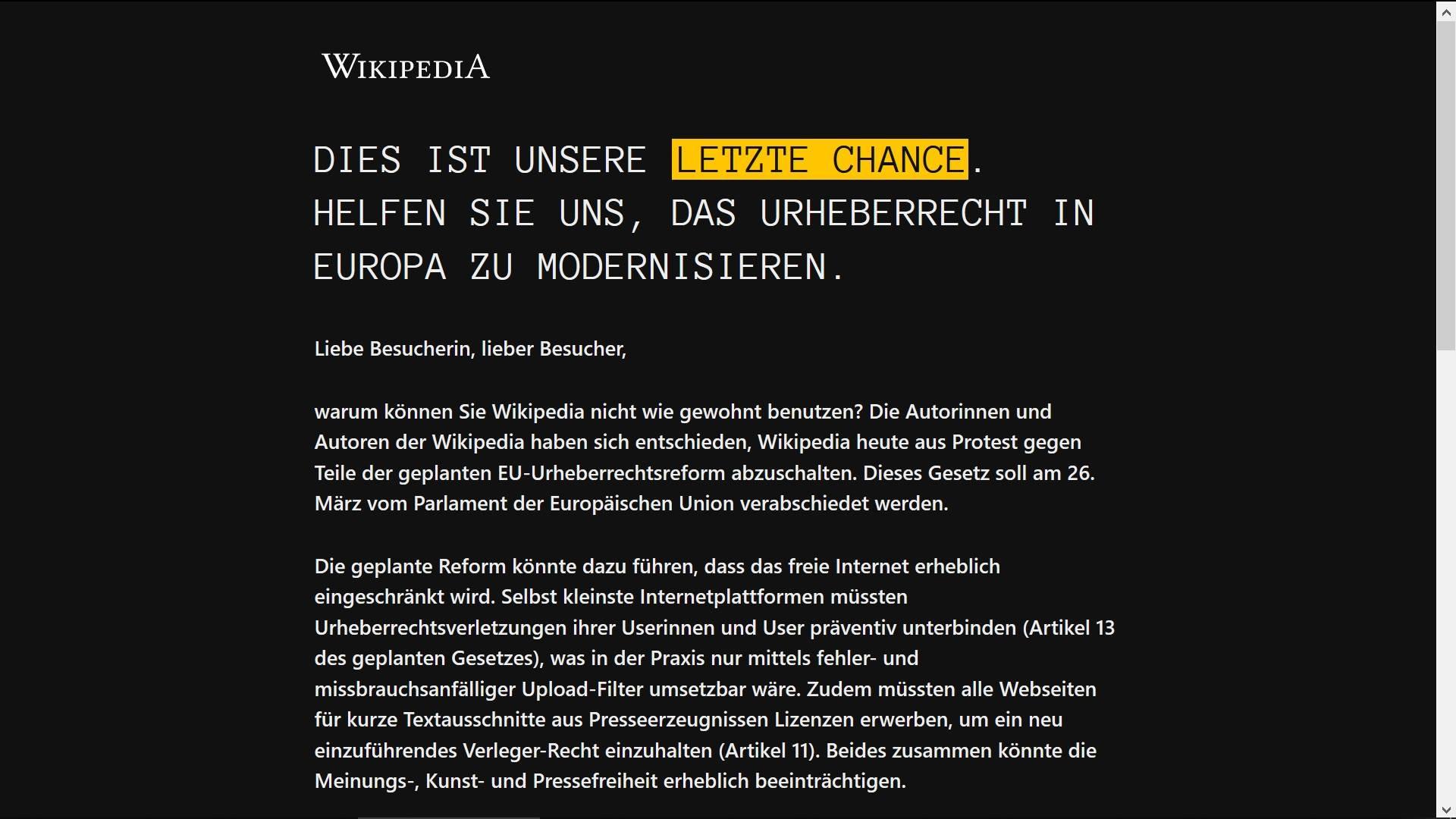 Wikipedia označila kraj?!