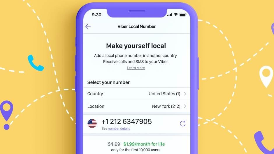 Viber ukida roming, uvodi pretplatu i lokalne brojeve