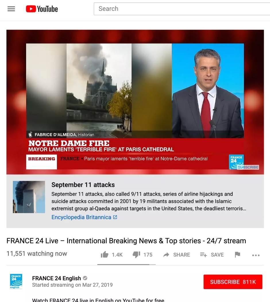 YouTube skandal zbog zapaljenog Notr Dama