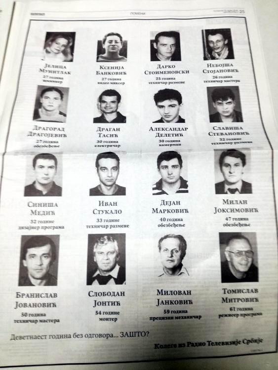 čitulja, zašto, nato bombardovanje, rts