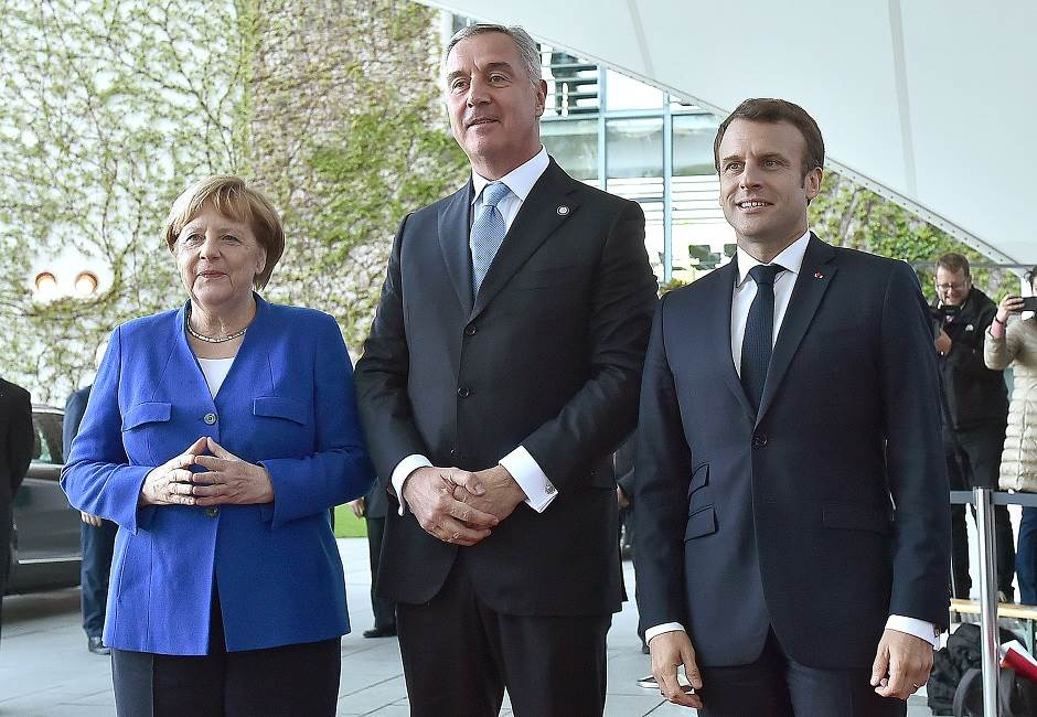 Milo Đukanović, Makron, Merkel