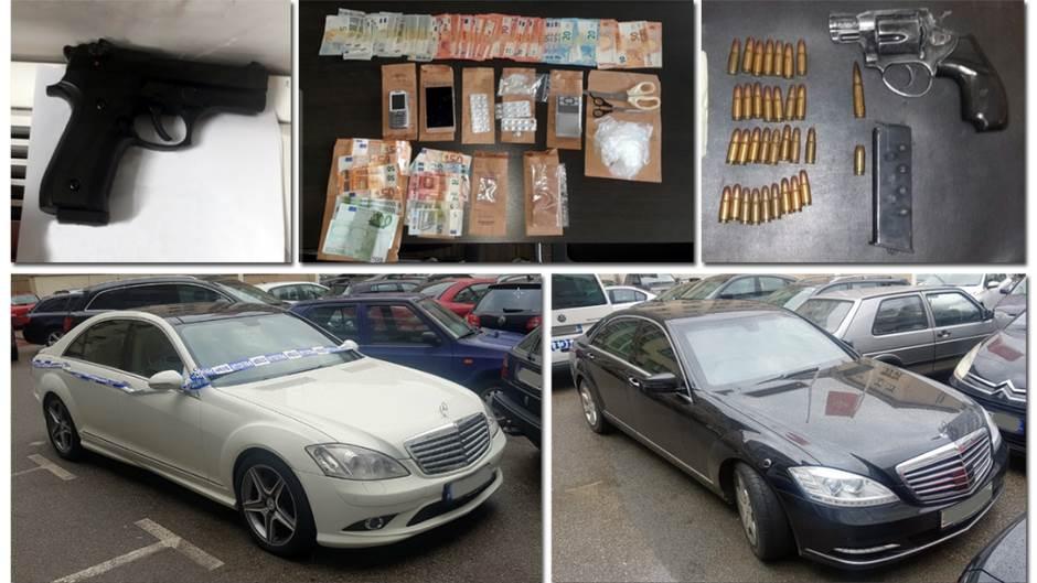 Pretresi u Podgorici: Oduzeti droga, novac, oružje...