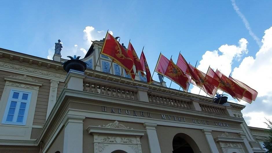 Cetinje, Dan nezavisnosti, zastave, Narodni muzej Crne Gore, Crna Gora, zastave, zastava Crne Gore