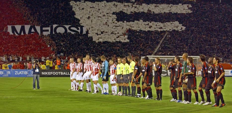Crvena zvezda, Milan, UEFA, Mafiosi
