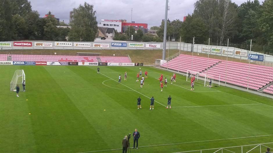 FK Crvena zvezda trening Suduva