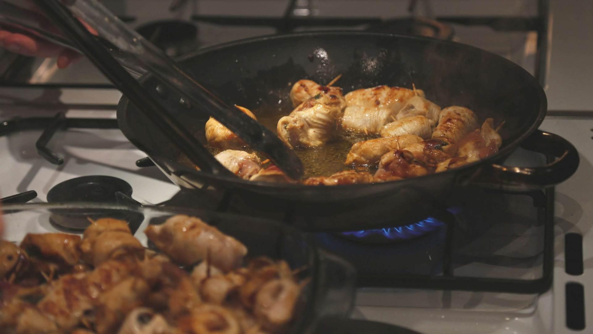hrana, meso, prženje, pečenje