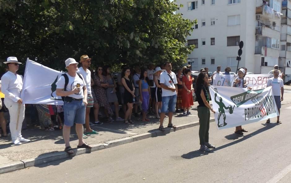 "Protest ""zelene gerile"" u ""Ulici palih čempresa"" (FOTO)"