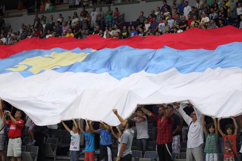 srbija zastava navijači arena