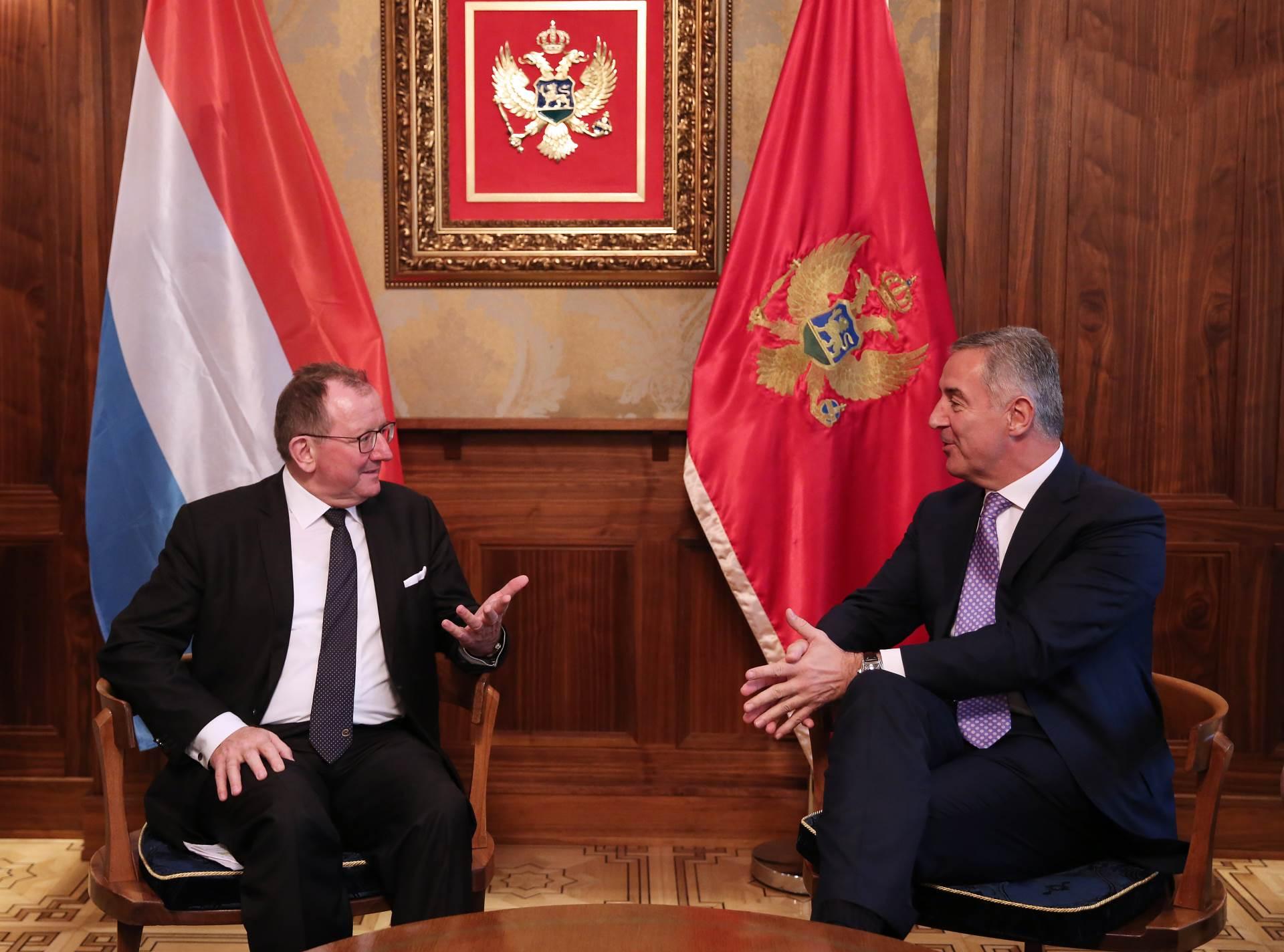 Đukanović primio šefa parlamenta Luksemburga