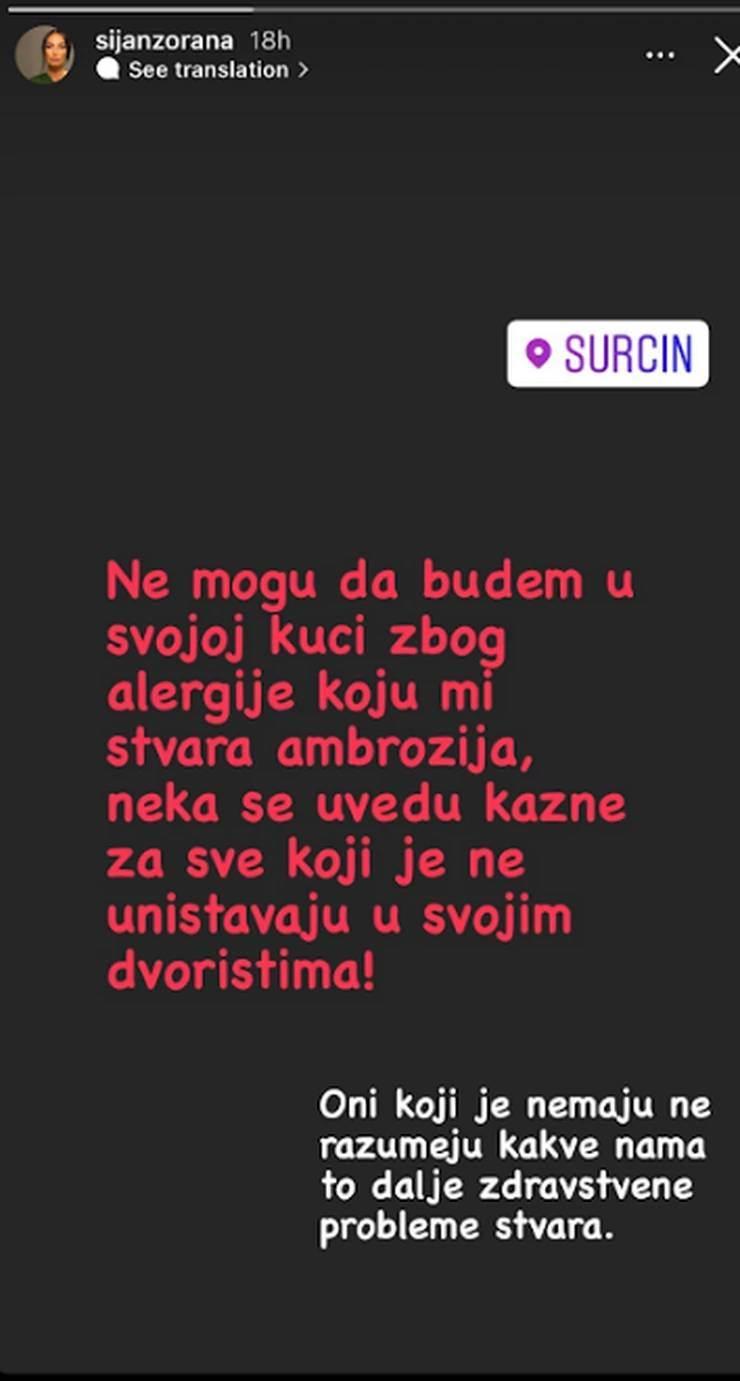 Zorana Šijan napustila dom u Surčinu